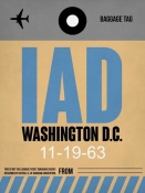 NAXART Studio - IAD Washington Luggage Tag 1