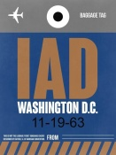 NAXART Studio - IAD Washington Luggage Tag 2