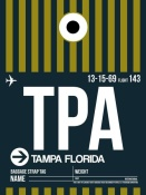 NAXART Studio - TPA Tampa Luggage Tag 2