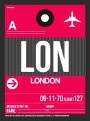 NAXART Studio - LON London Luggage Tag 2