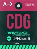 NAXART Studio - CDG Paris Luggage Tag 1