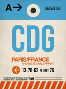 NAXART Studio - CDG Paris Luggage Tag 2