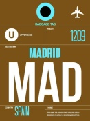 NAXART Studio - MAD Madrid Luggage Tag 1