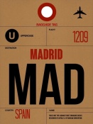 NAXART Studio - MAD Madrid Luggage Tag 2