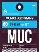 NAXART Studio - MUC Munich Luggage Tag 1