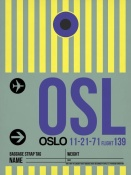 NAXART Studio - OSL Oslo Luggage Tag 1