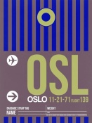 NAXART Studio - OSL Oslo Luggage Tag 2