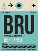 NAXART Studio - BRU Brussels Luggage Tag 1