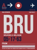 NAXART Studio - BRU Brussels Luggage Tag 2