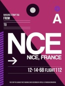 NAXART Studio - NCE Nice Luggage Tag 1