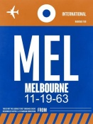 NAXART Studio - MEL Melbourne Luggage Tag 2