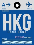 NAXART Studio - HKG Hog Kong Luggage Tag 1