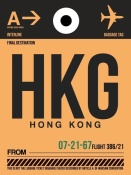 NAXART Studio - HKG Hog Kong Luggage Tag 2