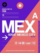 NAXART Studio - MEX Mexico City Luggage Tag 1