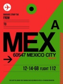 NAXART Studio - MEX Mexico City Luggage Tag 2