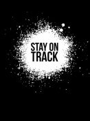 NAXART Studio - Stay on Track Poster Black