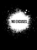 NAXART Studio - No Excuses Poster Black