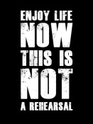 NAXART Studio - Enjoy Life Now Poster Black