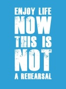 NAXART Studio - Enjoy Life Now Poster  Blue