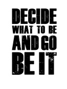 NAXART Studio - Be It Poster White