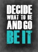 NAXART Studio - Be It Poster Grey