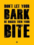 NAXART Studio - Bark And Bite Poster Yellow