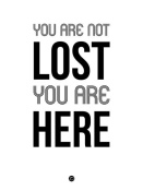 NAXART Studio - You Are Not Lost Poster White