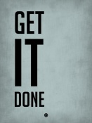 NAXART Studio - Get It Done Poster  Blue