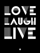 NAXART Studio - Love Laugh Live Poster 2