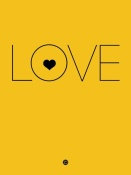 NAXART Studio - Love Poster Yellow