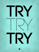NAXART Studio - Try Try Try Poster Blue