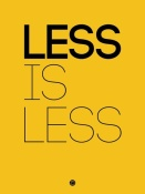 NAXART Studio - Less Is Less Poster Yellow