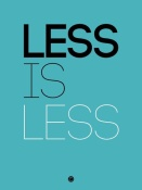 NAXART Studio - Less Is Less Poster Blue