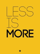 NAXART Studio - Less Is More Poster Yellow