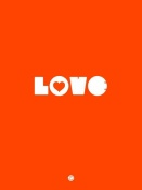 NAXART Studio - LOVE Orange Poster