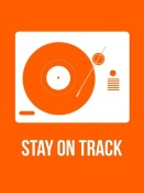 NAXART Studio - Stay On Track Orange Poster