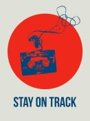 NAXART Studio - Stay On Track Circle Poster 1