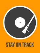 NAXART Studio - Stay On Track Vinyl Poster 1