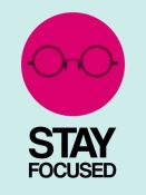 NAXART Studio - Stay Focused Circle Poster 1