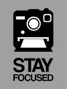NAXART Studio - Stay Focused Polaroid Camera Poster 1