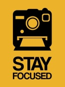 NAXART Studio - Stay Focused Polaroid Camera Poster 2