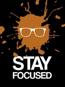 NAXART Studio - Stay Focused Splatter Poster 3