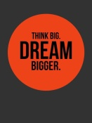 NAXART Studio - Think Big Dream Bigger Circle Poster 1