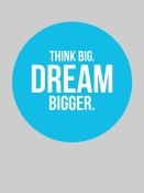 NAXART Studio - Think Big Dream Bigger Circle Poster 2
