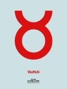 NAXART Studio - Taurus Zodiac Sign Red