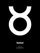 NAXART Studio - Taurus Zodiac Sign White