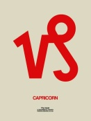 NAXART Studio - Capricorn Zodiac Sign Red