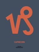 NAXART Studio - Capricorn Zodiac Sign Orange
