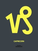 NAXART Studio - Capricorn Zodiac Sign Yellow