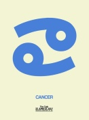 NAXART Studio - Cancer Zodiac Sign Blue